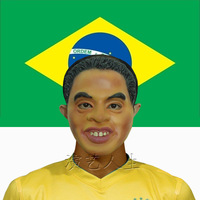 free shipping 1pcs/lot Ronaldinho face mask - Halloween Celebrities latex mask party mask festival mask performances