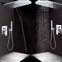 Basons ufo waterfall shower set wall box multifunctional shower set 8015a