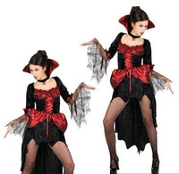 Halloween clothes female c0 s gothic lace masquerade the devil costume
