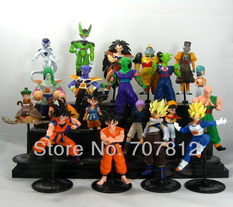 20x Crazy Party Dragon Ball Z GT Action Figure Japanese Anime Figures Toys CELL/FREEZA/Goku 10CM PVC 20PCS/SET Free Shipping(China (Mainland))