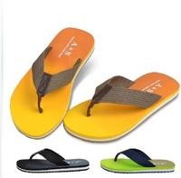 2014 Men summer beachgradient color rubber slip-resistant men's drag  flip flops slippers