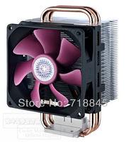 Brand New Cooler Master Computer T2 1155 Intel / AMD CPU 3Pin 80mm Cooling Cooler Fan Heatsink Set Free Shipping