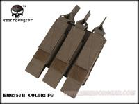 EMERSON Modular Triple MAG Pouch MP7/BK/KH/CB/AOR1/AOR2/FG/AT/AT-FG free shipping