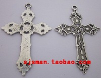 Diy accessories handmade beaded materials of ancient silver alloy tibetan silver cross pendant