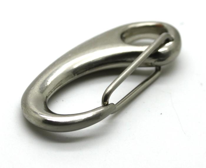 Wholesale 46mm Brushed Nickle Zinc Alloy Drop Hook Clasp Clip Ladies Handbag Women Bag Metal Hardware Accessory SH11-DH49P(China (Mainland))