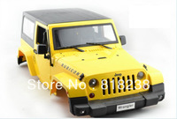 NEW 1/10 Scale RC Crawler Red/Yellow Body Fits Axial SCX10 Land Rover D90 RC4WD