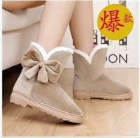 Free shipping,wild fashion snow boots,suede boots, women's boots flat with senior matte,sleeve casual low-heeled women's boots