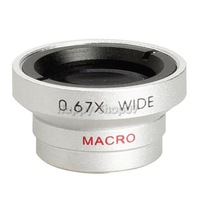 BUH9 0.67x Wide Macro Lens Magnet Mount Conversion Lens for iPhone Silver