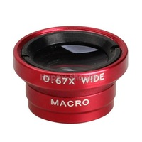 BUH9 0.67x Wide Macro Lens Magnet Mount Conversion Lens for iPhone Red