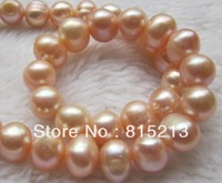 ddh00219 Natural South Sea pink Pearl Necklace AAA+ 10-12MM 14k