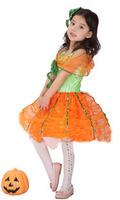 Free shipping Halloween clothes child pumpkin costume bags pumpkin skirt female child dream pumpkin princess dress