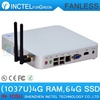 Fanless Mini PC Systems 4G RAM 64G SSD windows linux with 29MM extreme ultra-thin chassis Intel Celeron dual core C1037U 1.8GHz