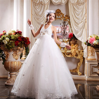 Maternity wedding dress 2013 high waist plus size halter-neck V-neck lace strap vintage