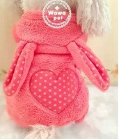 new design dog coat clothing soft warm The rabbit