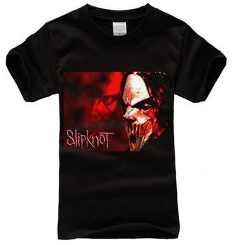 Slipknot Famous Mask Corey Taylor Classic Logo Men's T-shirt American apparel punk rock shirts for men