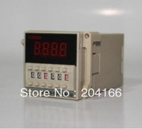 Time relay DH48S-S 220V 24V 12V with dock socket repeat cycle relay timer 1s-990h LED display 8 pin panel installed