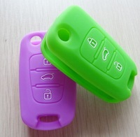 Silicone Key Cover Car Keychain For Remote Control for KIA 2012 RIO K2 K5 Sportage R forte CERATO accessories