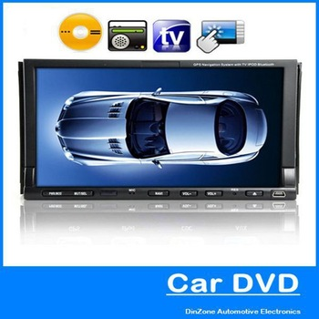 Universal 2 Two DIN 7 Inch Touch Screen Car DVD Player with TV Remote Control AM/FM Radio Tuner