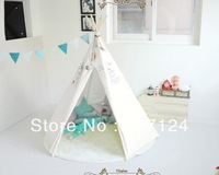 white 6' Great Plains Teepee for hot selling with 100% cotton