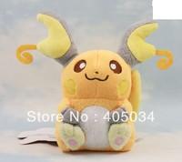 "Pokemon RAICHU 5.5"" dolls Plush toys Cuddly gifts Cute dolls Stuffed anime toys 10pcs/lot"