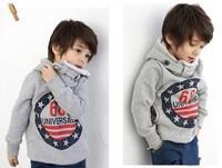 Promotion !! children's winter sets Boys Hoodies Long Sleeve winter Hoodies kids coat Tops Children Coat 2-6yrs Free Shipping