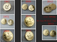 100pcs/lot DHLFree Shipping 1OZ Fine Gold-Plated Year 1967,1972,2008,2009 etc 8 different date Year Krugerrand NO Copy Coin