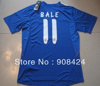 Freeshipping!top Thai quality 13/14 #11 BALE jersey Real Madrid Blue Soccer Jersey  football shirt sport wear brand jersey