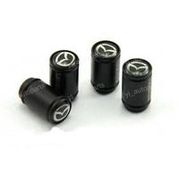 New Cool Black Universal Tire Wheel Rims Stem Valve Caps Cover Set Fit For Mazda 2 3 5 6 CX-9 CX-7 MX-5 RX-8 RX7 323 Familia GLC