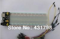 3.3V/5V  Breadboard power module+MB-102 830 points Solderless Prototype Bread board kit +65 Flexible jumper wires ard uino uno