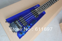 2014 new arrival + free shipping + factory + FD blue acrylic electric bass FD acrylic blue color active pickups electric bass !!