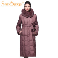 Snowpop 2013 winter white duck down ultra long down coat european version of quinquagenarian plus size mother clothing women's