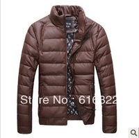 2013 men's fashion warm winter down jacket coat