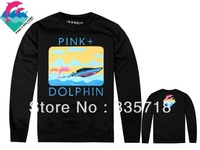 Pink Dolphin Sweatshirts new hot sale thicken mens  2 styles sportswears Free Shipping Size S-XXL