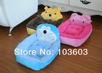 Free Shipping SIZE S/L Pet Cute Fashion Cartoons Animals Shapes Princess Prince Kennel Nest House Dog Sofa Bed Pet Supplies