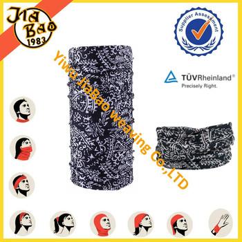 solid color multifunctional printed seamless tube bandana multi scarf headwear headband