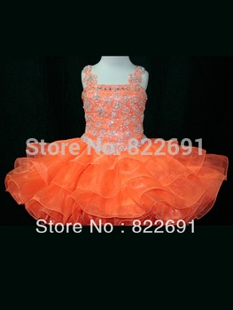 2015 New Arrival Top Little Rosie Cupcake Dress Lovely Little Rosie hot pink Glitz Toddler Real Sample Pageant Dress custom