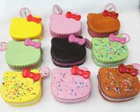 Jumbo Squishy Kitty Breads Sprinkles SQUISHIES Phone Charm / Bag Charm/Free Shipping/ WHOLESALE CHEAP FFC110