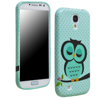1PCS New Arrival Cute Owl Design Soft TPU Skin Case Cover for Samsung Galaxy S4 i9500 i9502 Free shipping & Drop shipping