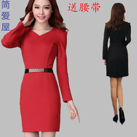 Y8 2013 autumn water women's ol isn't one-piece dress