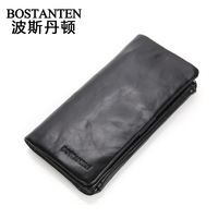 Free Shipping Commercial Male Cowhide Wallet Quality Multi Card Holder Wallet Long Design Genuine Leather Wallet