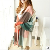 Free Shipping 2013 New Fashion Korean Style Longer Knit Warm Wool Scarves &  Shawl 7 Colors