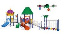 kindergarten children outdoor amusement playground slide plastic and galvanized steel