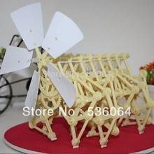 Wind Powered DIY Walking Walker Mini Strandbeest Assembly Model Kids Robot Toy Freeship&dropship(China (Mainland))