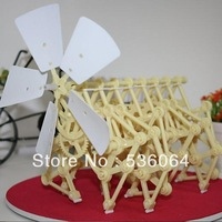 Wind Powered DIY Walking Walker Mini Strandbeest Assembly Model Kids Robot Toy Freeship&dropship