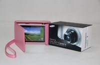 "MegaGear ""Ever Ready"" Protective Black Leather Camera Case , Samsung EK-GC110 Galaxy Digital Camera Pink"