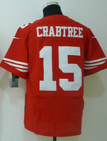 2013 Hot Sale New Arrival San Francisco Michael Crabtree Men's Elite Team White Red American football jerseys,Accept Mixed Order