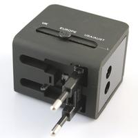 Dual USB 1A Multi Nation Universal Travel Adapter with US EU EK AU Wall AC Charger Plug