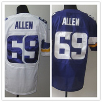 2013 new Men 69 Jared Allen elite blue white  American football Jersey,Cheap mens Sports Jersey,Embroidery logos,Mix order