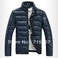 Free shipping 2014  male wadded jacket male slim cotton-padded jacket male winter outerwear thickening