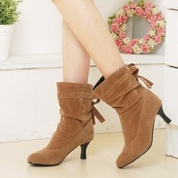 2013 autumn and winter boots with a single scrub pointed toe boots comfortable elegant shoes big size free shipping